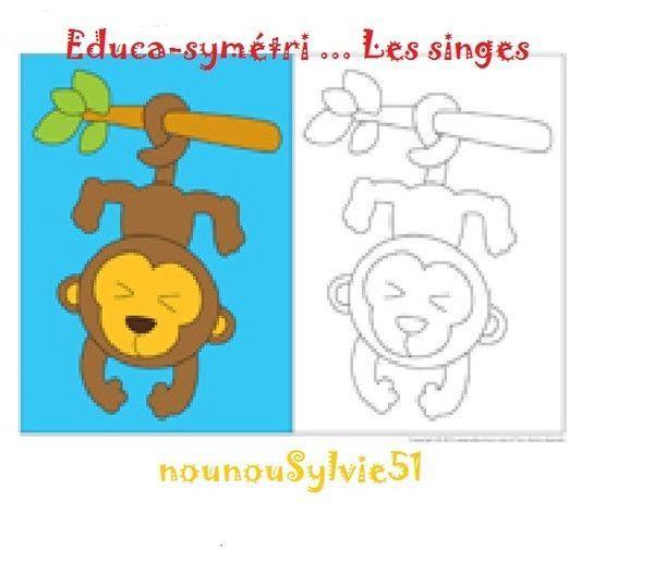 Coloriage du petit singe - Coloriage petit singe ...